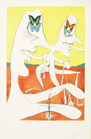 BUTTERFLIES OF ANTIMATTER BY SALVADOR DALI