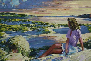 SUMMER SUNSET BY HOWARD BEHRENS