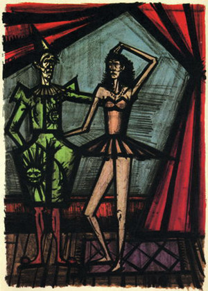 TWO CIRCUS PERFORMERS BY BERNARD BUFFET