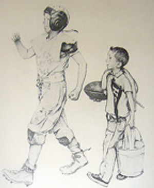 FOOTBALL MASCOT BY NORMAN ROCKWELL