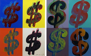 $ DOLLAR SIGN (QUANDRANT) FS II.283-284 ( SET OF 2) BY ANDY WARHOL