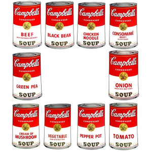 CAMPBELL SOUP CAN (PORTFOLIO OF 10) SERIES I BY ANDY WARHOL FOR SUNDAY B. MORNING