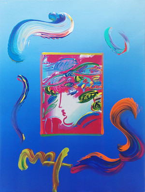 BLUSHING BEAUTY (OVERPAINT) BY PETER MAX