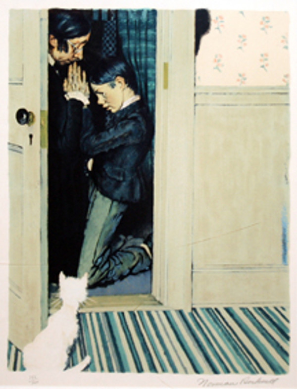 THEN MISS WATSON TOOK ME IN THE CLOSET AND PRAYED BY NORMAN ROCKWELL