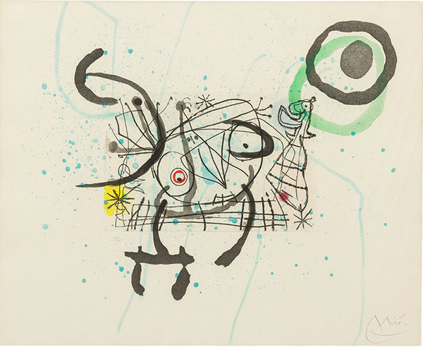 FISSURES PLATE IX BY JOAN MIRO