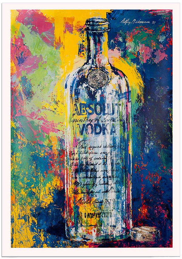 ABSOLUT VODKA (SIGNED) BY LEROY NEIMAN