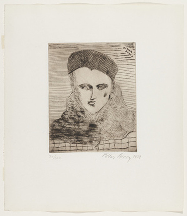 SALLY WITH BERET BY MILTON AVERY