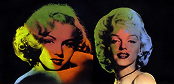 DOUBLE MARILYN - NORMA JEAN (BLK) BY STEVE KAUFMAN