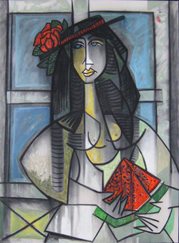LADY WITH WATERMELON BY JESUS FUERTES