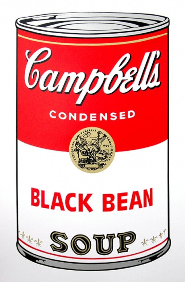 BLACK BEANS - CAMPBELL SOUP CAN BY ANDY WARHOL FOR SUNDAY B. MORNING