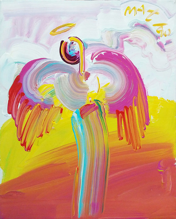 ANGEL ASCENDING (1990'S) BY PETER MAX
