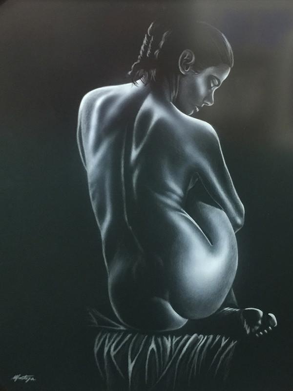 UNTITLED (SITTING NUDE) BY FERNANDO MONTOYA