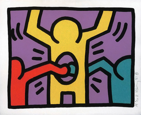 POP SHOP I (2) BY KEITH HARING