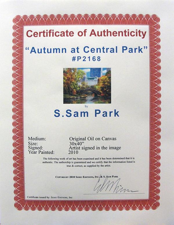 AUTUMN AT CENTRAL PARK BY SAM PARK
