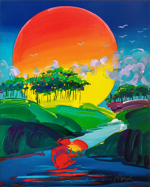 WITHOUT BORDERS I BY PETER MAX