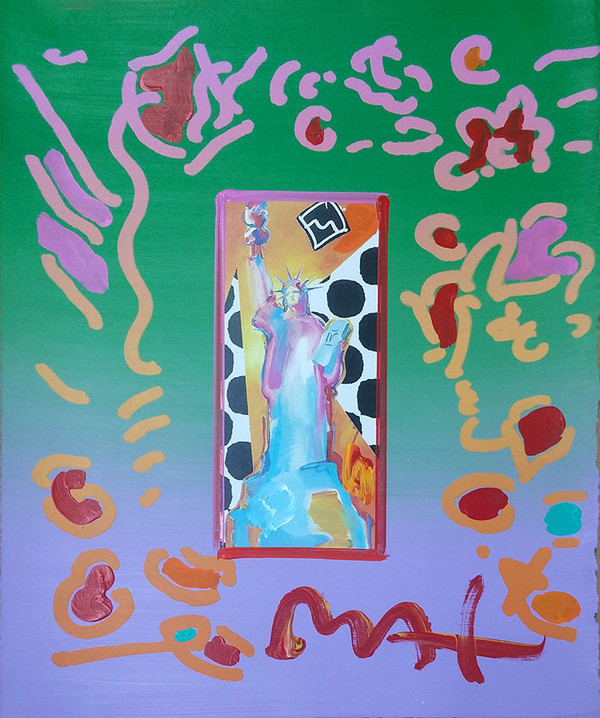 STATUE OF LIBERTY I (OVERPAINT) BY PETER MAX