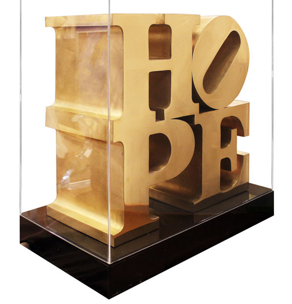 HOPE SCULPTURE BY ROBERT INDIANA