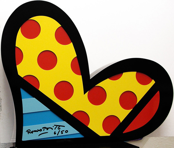 FOR YOUR HEART BY ROMERO BRITTO