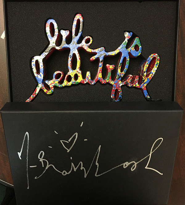 LIFE IS BEAUTIFUL (RED VARIANT) BY MR. BRAINWASH