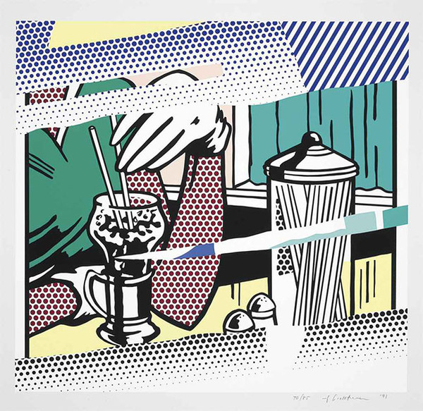 REFLECTIONS ON SODA FOUNTAIN BY ROY LICHTENSTEIN