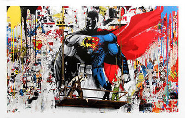 BATMAN VS SUPERMAN BY MR. BRAINWASH