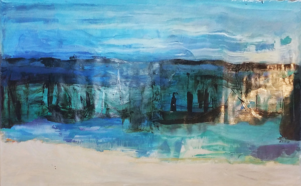 ABSTRACT (BLUE) BY EVA BECHINSKY