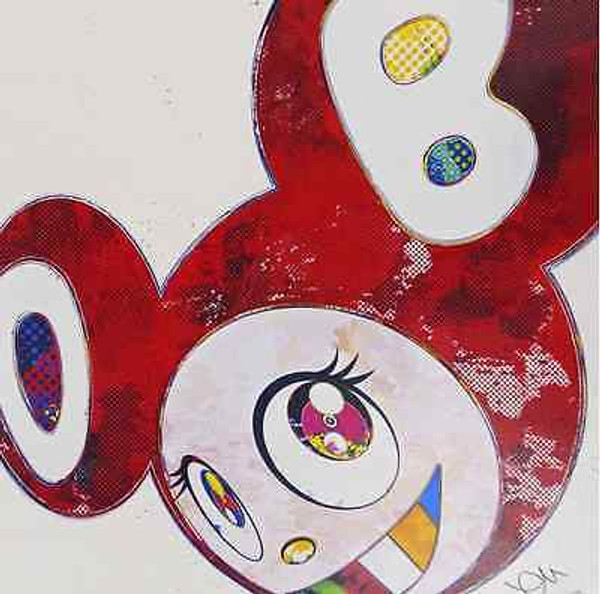AND THEN X6 VERMILLION  BY TAKASHI MURAKAMI