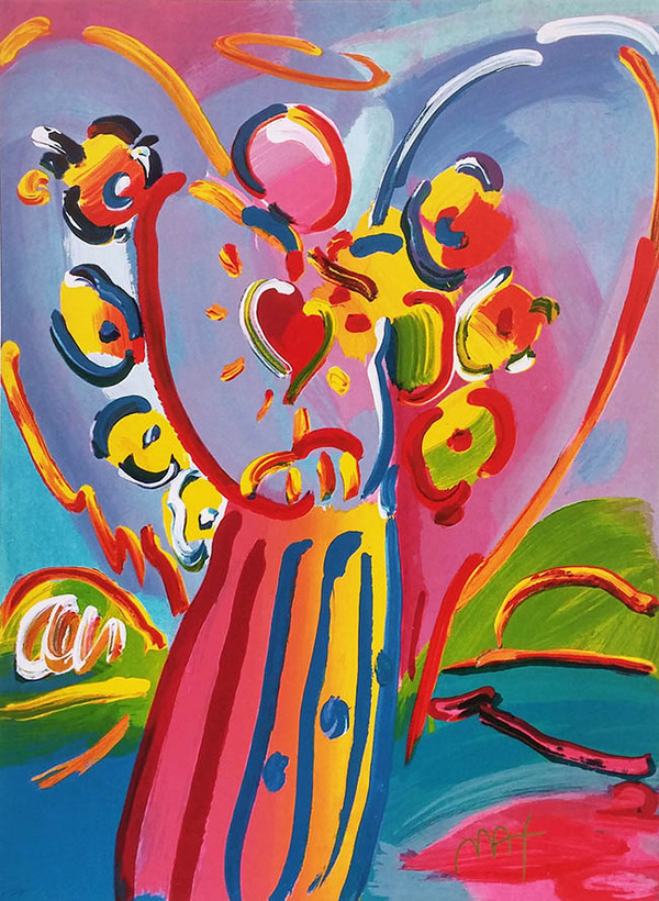 ANGEL WITH HEART IV BY PETER MAX