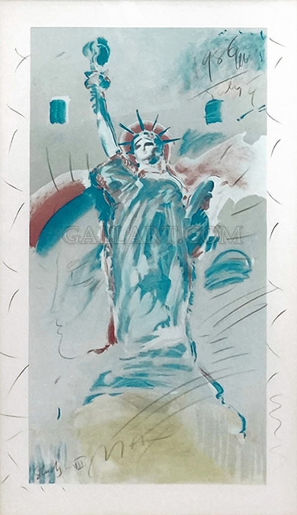 STATUE OF LIBERTY STUDY BY PETER MAX