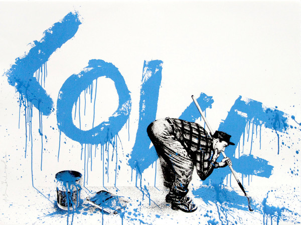 ALL YOU NEED IS LOVE (BLUE) BY MR. BRAINWASH