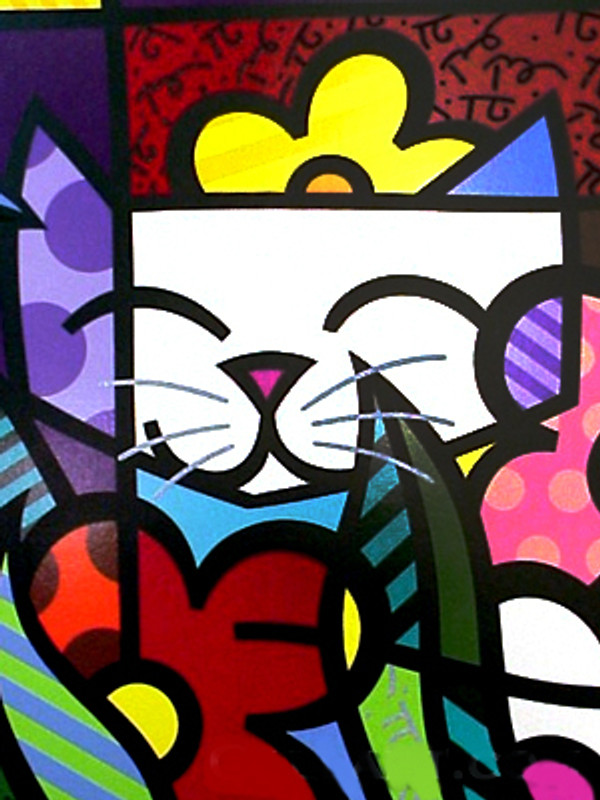 BEHIND THE FLOWERS BY ROMERO BRITTO