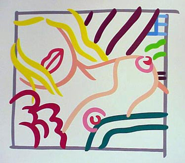 BEDROOM BLONDE DOODLE WITH PHOTO BY TOM WESSELMANN