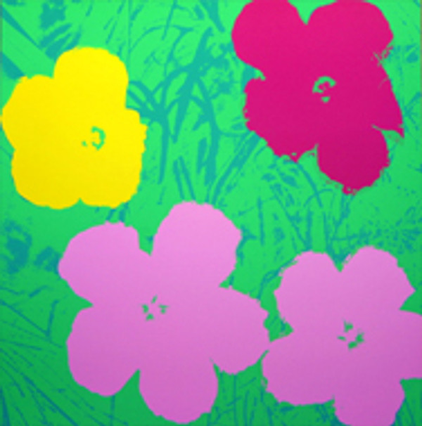FLOWERS 11.68 BY ANDY WARHOL FOR SUNDAY B. MORNING