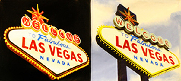 DOUBLE WELCOME TO LAS VEGAS (GIANT) BY STEVE KAUFMAN