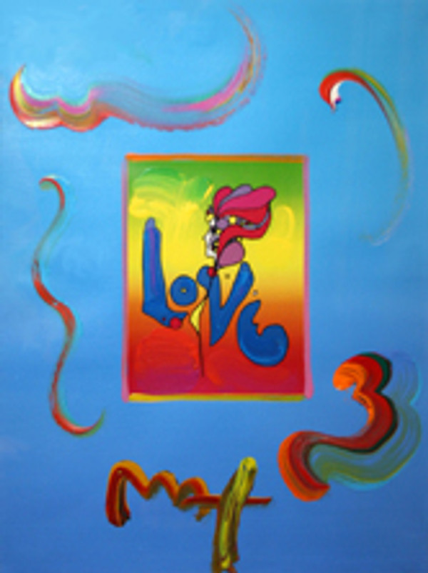 LOVE (OVERPAINT) BY PETER MAX