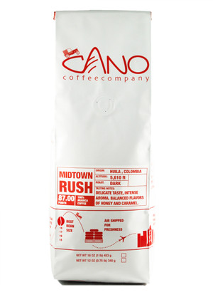 Mid Town Rush Quality Cano coffee.