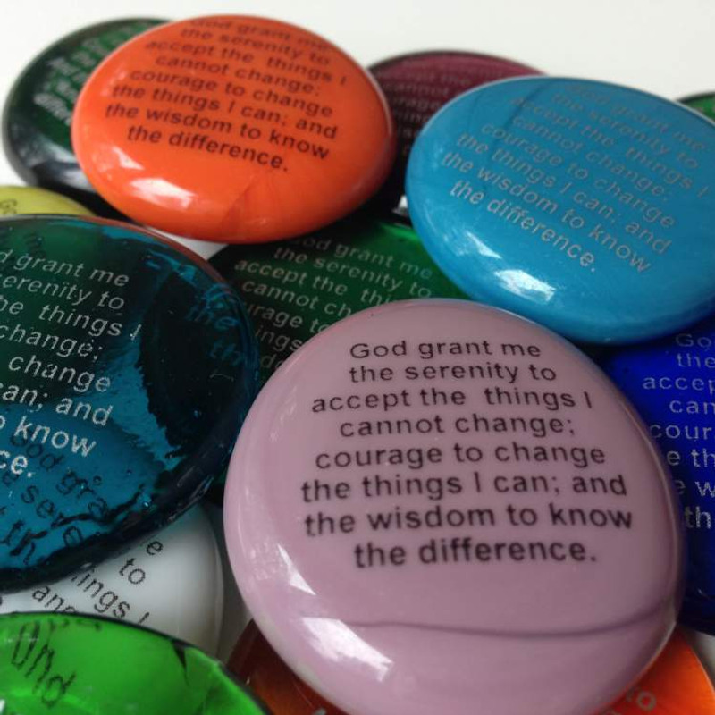 Serenity Prayer Glass Stones