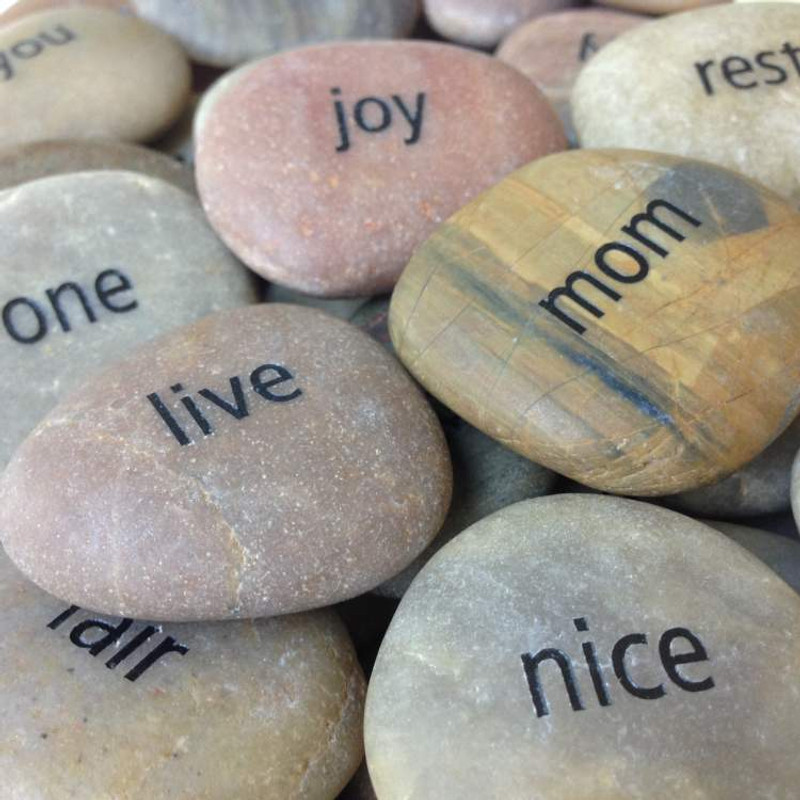 (Picture shown: Unpolished River Stones with Gold Fill)