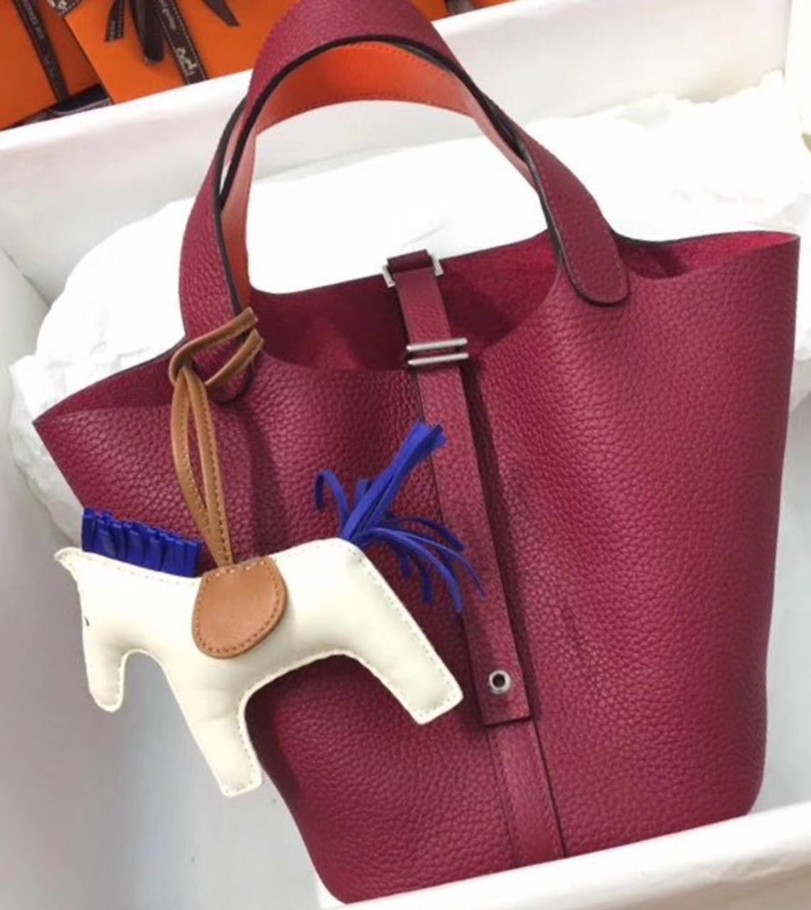 3c41460bd250 sale hermes rouge orange picotin lock 18 togo leather bag 69c83 41d87