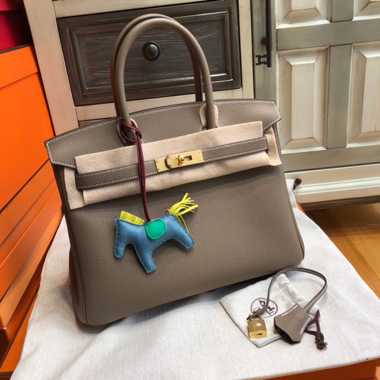 b47d92173b5f ... where to buy hermès 18 etoupe birkin 30 cm togo leather gold hardware  a1291 d6bed