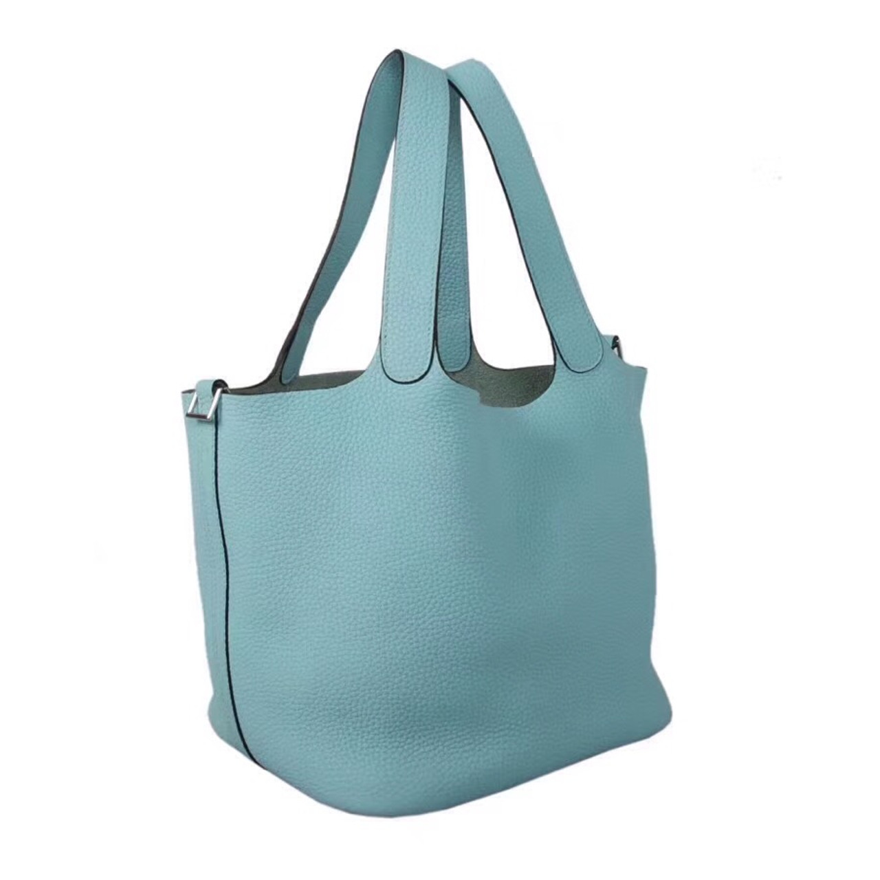 f19a6e744edf ... low price hermes blue atoll 3p picotin lock mm togo leather bag 29f57  ef273