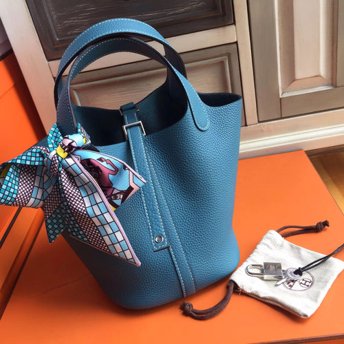 d316c979861 ... where can i buy hermes 75 blue jean picotin lock 18 togo leather bag  e0ad7 36b9a