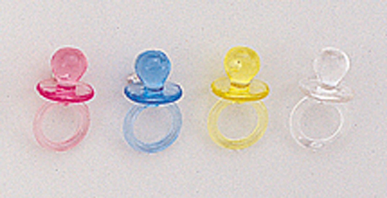 12 Plastic Baby Shower Pacifier Pack Of 3456 Count 24 Gross