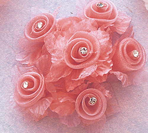Flowers - Organza Flowers - Small Sized Organza Flowers (2 inch and ...