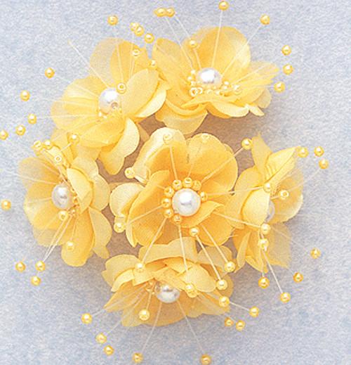 Flowers artificial silk flowers 15 silk flower with pearl 15 banana silk flowers with pearl pack mightylinksfo
