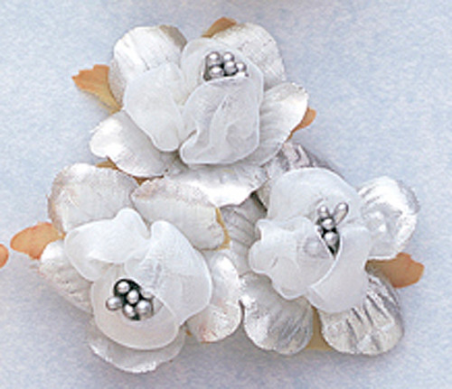 1 34 silver satin silk flowers with pearl pack of 36 cb 1 34 silver satin silk flowers with pearl pack mightylinksfo