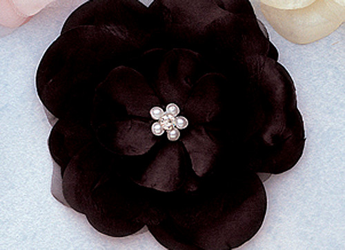 Flowers artificial silk flowers 45 silk flowers with 45 black large silk flowers with rhinestone pack of 12 pieces mightylinksfo