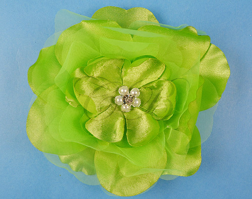 Flowers artificial silk flowers 45 silk flowers with 45 apple green large silk flowers with rhinestone pack of 12 pieces mightylinksfo