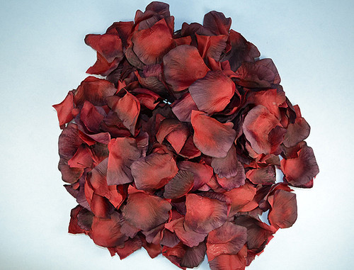 Wedding silk flower petals burgundy wedding silk rose flower petals 12 packs mightylinksfo