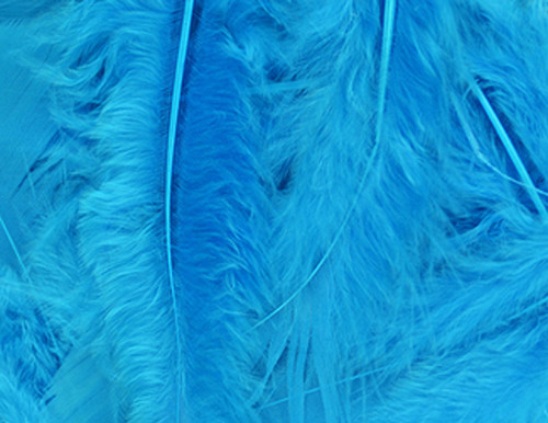 Turquoise Loose Turkey Feathers Cb Flowers Amp Crafts